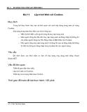 Bài giảng thực hành lập trình web 2 - Bài 11