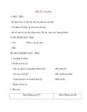 Giáo án lớp 1 môn Tự Nhiên Xã Hội: Bài 23 : Cây hoa