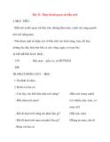 Giáo án lớp 1 môn Tự Nhiên Xã Hội: Bài 31: Thực hành quan sát bầu trời