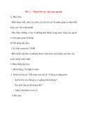 Giáo án lớp 1 môn Tự Nhiên Xã Hội: Bài 3 : Nhận biết các vật xung quanh