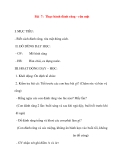 Giáo án lớp 1 môn Tự Nhiên Xã Hội: Bài 7: Thực hành đánh răng - rữa mặt