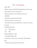 Giáo án lớp 1 môn Tự Nhiên Xã Hội: Bài 8 : Ăn, uống hàng ngày