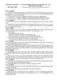 Đề thi học sinh giỏi môn sinh học lớp 9 - tỉnh Vĩnh Phúc
