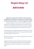 Huyền thoại về Achimède
