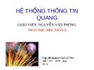 HỆ THỐNG THÔNG TIN QUANG - Gv.Nguyễn Văn Phòng