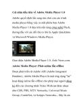 Cái nhìn đầu tiên về Adobe Media Player 1.0