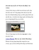 """Sửa ảnh trực tuyến với """"bộ tứ siêu đẳng"""" của Aviary"""