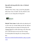 Hợp nhất nội dung nhiều file video với Boilsoft Video Joiner