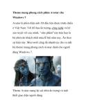 Theme mang phong cách phim Avatar cho Windows 7