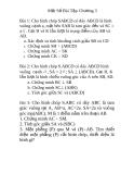 Một số bài tập hình học chương 3