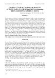 """Báo cáo nghiên cứu khoa học: """"NGHIÊN CỨU DÙNG ARTEMIA ĐỂ HẠN CHẾ SỰ PHÁT TRIỂN CỦA TIÊM MAO TRÙNG (Ciliophora) TRONG HỆ THỐNG NUÔI LUÂN TRÙNG"""""""