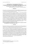 """Báo cáo nghiên cứu khoa học: """" ẢNH HƯỞNG CỦA MẬT ĐỘ ĐẾN NĂNG SUẤT VÀ HIỆU QUẢ KINH TẾ CỦA MÔ HÌNH NUÔI TÔM CÀNG XANH (Macrobrachium rosenbergii ) LUÂN CANH VỚI LÚA"""""""