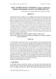 """Báo cáo nghiên cứu khoa học: """" THỰC NGHIỆM NUÔI CÁ RÔ ĐỒNG (Anabas testudineus) THÂM CANH TRONG AO ĐẤT TẠI TỈNH LONG AN"""""""