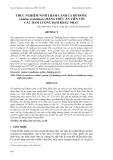 """Báo cáo nghiên cứu khoa học: """" THỰC NGHIỆM NUÔI THÂM CANH CÁ RÔ ĐỒNG (Anabas testudineus) BẰNG THỨC ĂN VIÊN VỚI CÁC HÀM LƯỢNG ĐẠM KHÁC NHAU"""""""