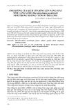 """Báo cáo nghiên cứu khoa học: """" ẢNH HƯỞNG CỦA KÍCH CỠ GIỐNG LÊN NĂNG SUẤT TÔM CÀNG XANH (Macrobrachium rosenbergii) NUÔI TRONG MƯƠNG VƯỜN Ở VĨNH LONG"""""""