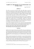 """Báo cáo nghiên cứu khoa học: """" NGHIÊN CỨU THỊ TRƯỜNG CÁC SẢN PHẨM THUỶ SẢN Ở TỈNH CÀ MAU"""""""