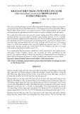 """Báo cáo nghiên cứu khoa học: """" KHẢO SÁT HIỆN TRẠNG NUÔI TÔM CÀNG XANH (Macrobrachium rosenbergii) TRONG AO ĐẤT Ở TỈNH VĨNH LONG"""""""