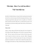 Tiểu luận - Bàn về cơ chế bảo hiến ở Việt Nam hiện nay
