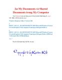 Thủ thuật Windows XP: Ẩn My Documents và Shared Documents trong My Computer
