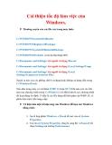 Thủ thuật Windows XP: Cải thiện tốc độ làm việc của Windows.