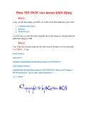 Thủ thuật Windows XP: Đưa MS DOS vào menu khởi động