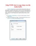 Thủ thuật Windows XP: Giúp WMP chơi và copy được các đĩa Audio bị lỗi.