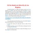 Thủ thuật Windows XP: Gỡ bỏ nhanh các khóa đã cài vào Registry