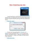 Thủ thuật Windows XP: Một số lệnh Run đặc biệt