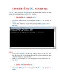 Thủ thuật Windows XP: Tìm hiểu về file DL_ và cách tạo.File .DL_ thực chất là file .DLL bị nén lại mà