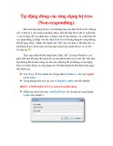 Thủ thuật Windows XP: Tự động đóng các ứng dụng bị treo