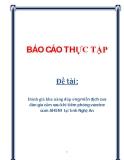 Đề tài: Đánh giá khả năng đáp ứng miễn dịch của đàn gia cầm sau khi tiêm phòng vaccine cúm AH5N1 tại tỉnh Nghệ An
