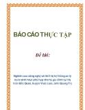 Đề tài: Nghiên cứu công nghệ và thiết bị hệ thống xử lý nước sinh hoạt phù hợp cho hộ gia đình tại thị trấn Bến Quan, huyện Vĩnh Linh, tỉnh Quảng Trị