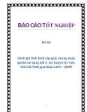 Đề tài: Đánh giá tình hình cấp giấy chứng nhận quyền sử dụng đất ở  tại  huyện Kỳ Anh, tỉnh Hà Tĩnh giai đoạn 2005 – 2009
