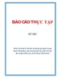 Đề tài: Điều tra kinh tế xã hội và đánh giá hiện trạng nuôi trồng thuỷ sản của các xã Lộc Điền và Lộc An, huyện Phú Lộc, tỉnh Thừa Thiên Huế