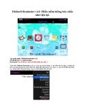 Tbilisoft Reminder v1.0 Phần mềm thông báo nhắc nhở tiện lợi