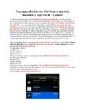Ứng dụng đầu tiên của Việt Nam có mặt trên BlackBerry App World