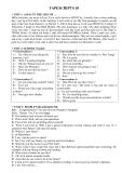 Hệ thống bài nghe môn tiếng Anh 10