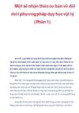 Một số nhận thức cơ bản về đổi mới phương pháp dạy học vật lý (Phần 1)