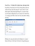EasyWay - Vẽ hình để ra lệnh chạy chương trình EasyWay là một tiện ích tí hon