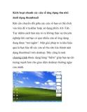 Kích hoạt nhanh các cửa sổ ứng dụng thu nhỏ dưới dạng thumbnail