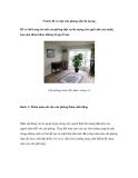 5 bước để có một căn phòng nhỏ ấn tượng