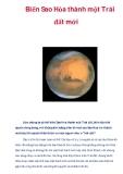 Biến Sao Hỏa thành một Trái đất mới