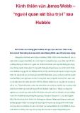 """Kính thiên văn James Webb – """"người quan sát bầu trời"""" sau Hubble"""