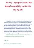 Vũ Trụ Lượng Tử : Cuộc Cách Mạng Trong Vật Lý hạt Cơ bản thế Kỷ XXI