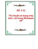 thủ thuật sử dụng máy tính: lỗi trong windows xp