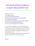 Thủ thuật sử dụng máy tính: Cách đưa phụ đề tiếng Việt dạng text vào tập tin video tạo bởi DivX codec