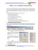 Tài liệu hướng dẫn sử dụng phần mềm MasterCam X - Phần I