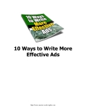 10 Cách để viết quảng cáo hiệu quả (10 Ways to Write More Effective Ads)