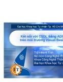Kết nối với CSDL bằng ADO trên môi trường Visual Basic