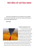 Đôi điều về vật liệu nano  Nói đến các hướng nghiên cứu của vật lý bây